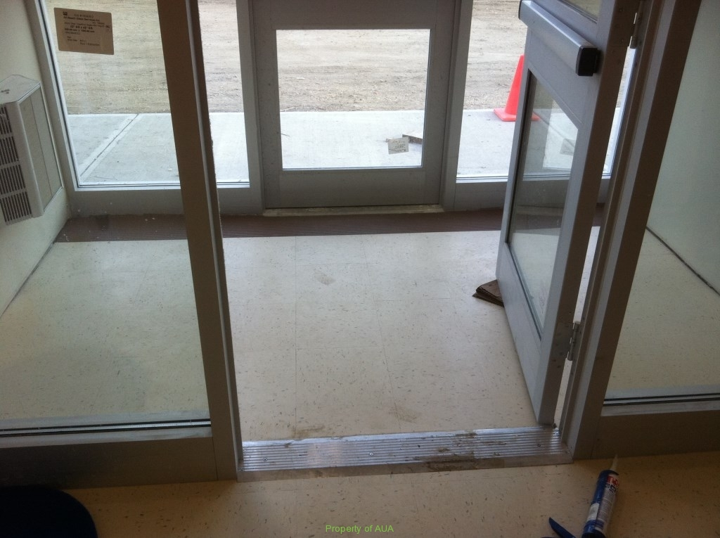 New Building Entrance Before