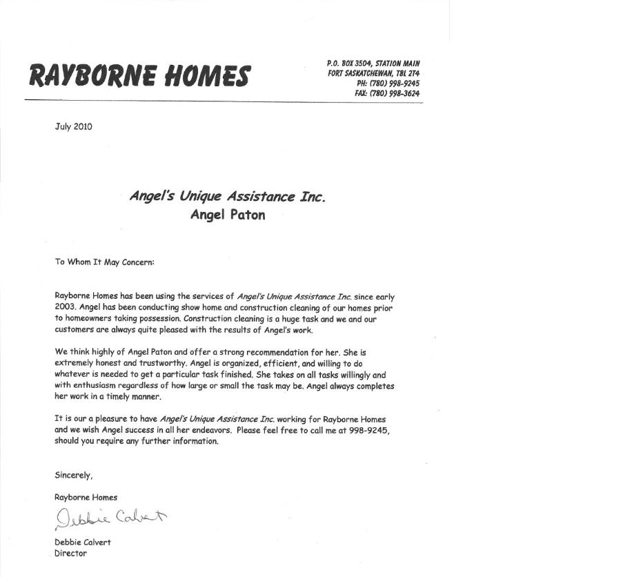 Rayborne-Reference