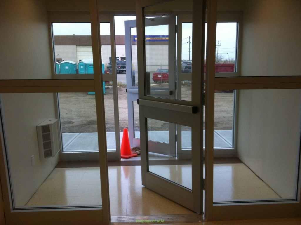 New Building Entrance After